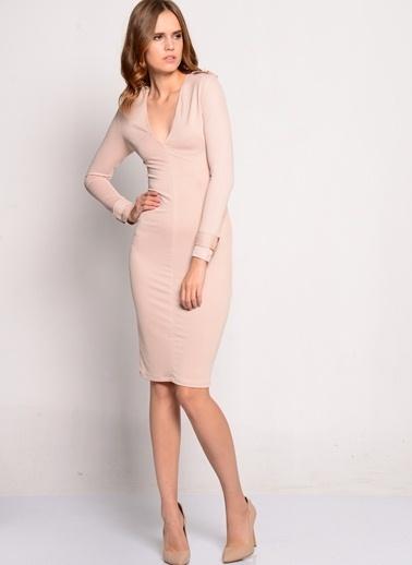 Rare London Elbise Bej